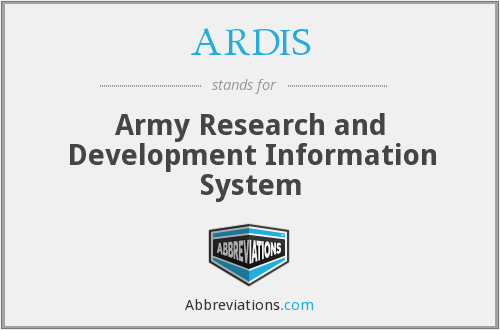 What does ARDIS stand for?