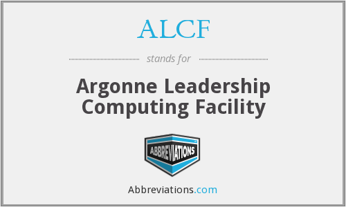 What does ALCF stand for?