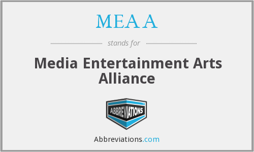What does MEAA stand for?
