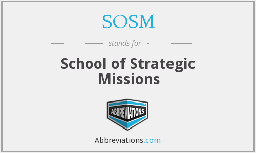 What does SOSM stand for?