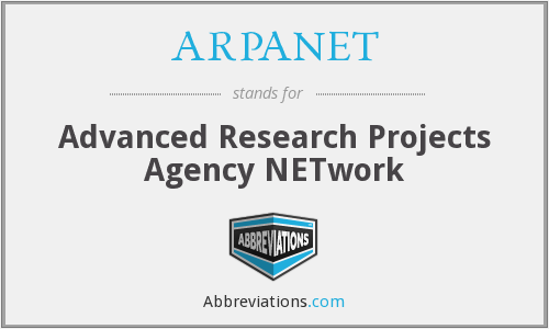 What does ARPANET stand for?