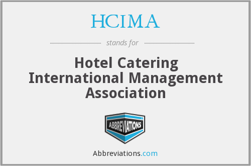 What does HCIMA stand for?