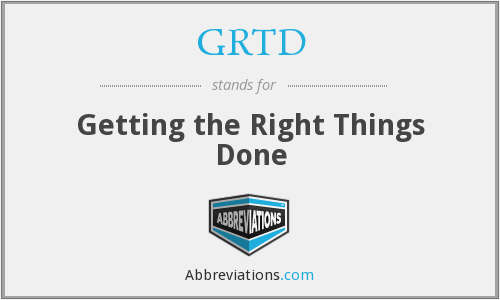 What does GRTD stand for?