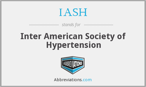 What does IASH stand for?