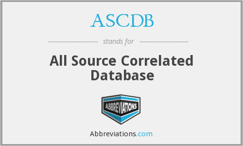 What does ASCDB stand for?
