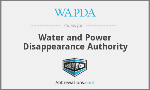 What does WAPDA stand for?