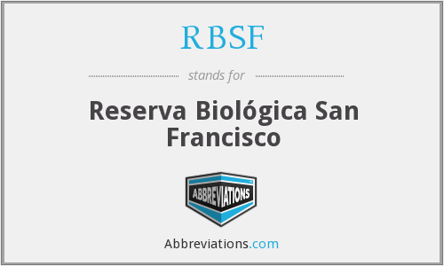 What does RBSF stand for?