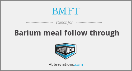What does BMFT stand for?