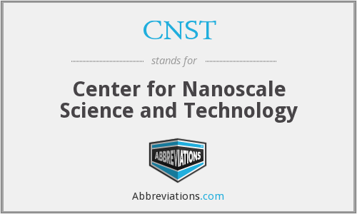 What does CNST stand for?