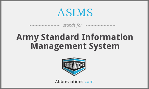 What does ASIMS stand for?