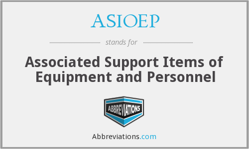 What does ASIOEP stand for?