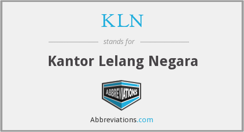 What does KLN stand for?