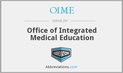 What does OIME stand for?
