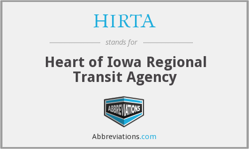 What does HIRTA stand for?