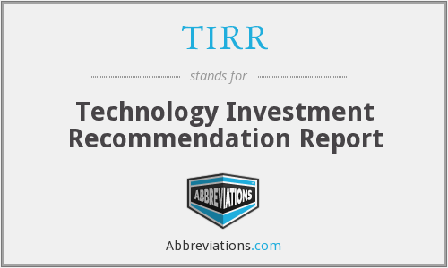 What does TIRR stand for?