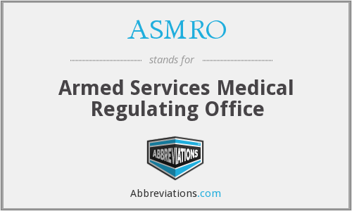 What does ASMRO stand for?