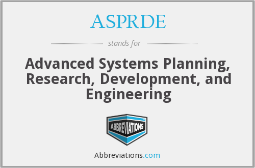 What does ASPRDE stand for?