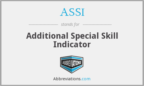 What does ASSI stand for?