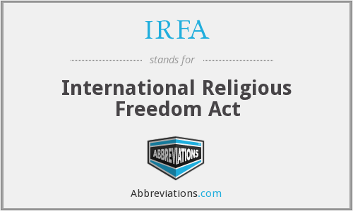 What does IRFA stand for?