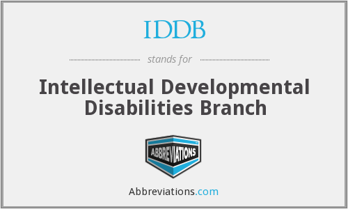 What does IDDB stand for?