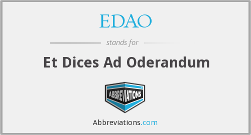 What does EDAO stand for?