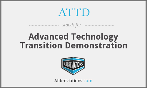 What does ATTD stand for?