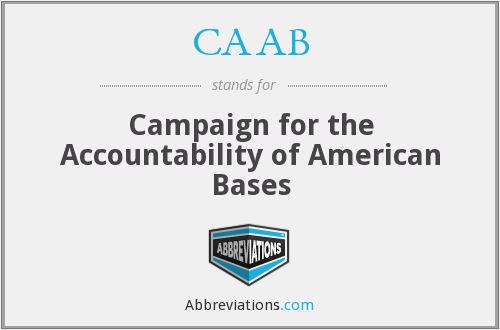 What does CAAB stand for?