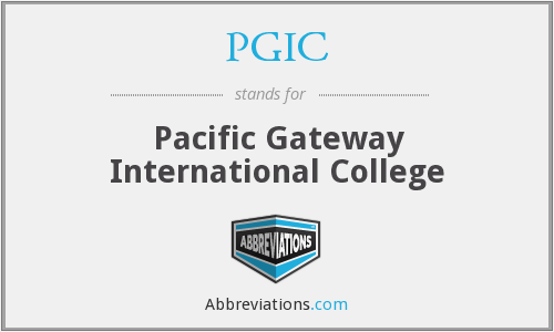 What does PGIC stand for?