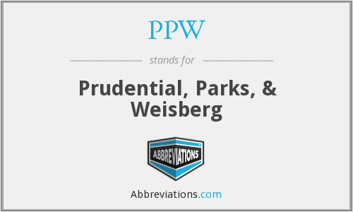 What does PPW stand for?