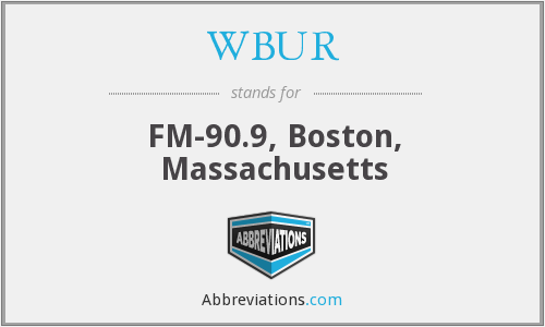 What does WBUR stand for?