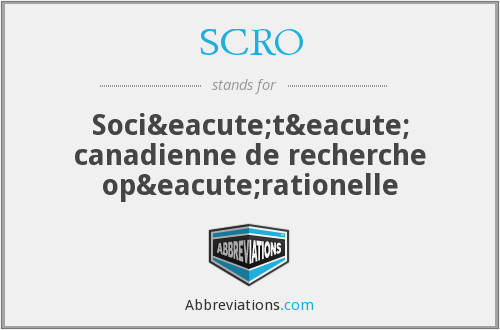 What does SCRO stand for?