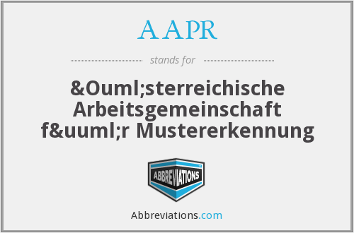 What does AAPR stand for?