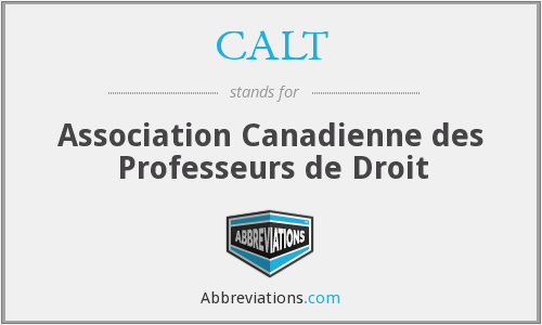 What does CALT stand for?