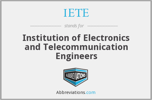 What does IETE stand for?