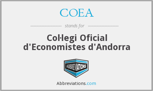 What does COEA stand for?