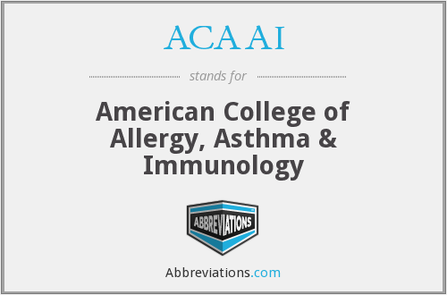 What does ACAAI stand for?
