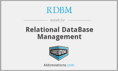 What does RDBM stand for?