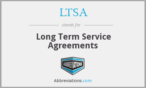 What does LTSA stand for?
