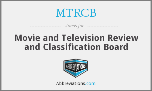 What does MTRCB stand for?