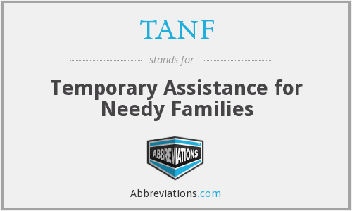 What does TANF stand for?