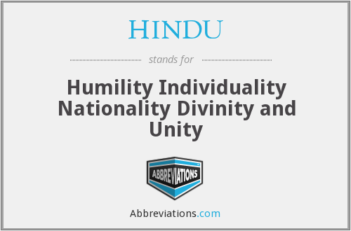 What does HINDU stand for?