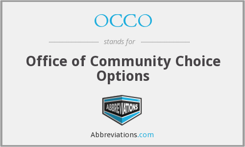 What does OCCO stand for?