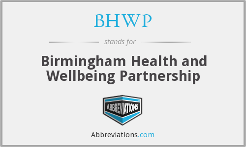 What does BHWP stand for?