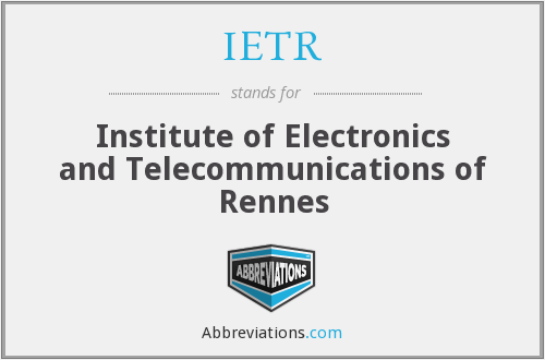 What does IETR stand for?