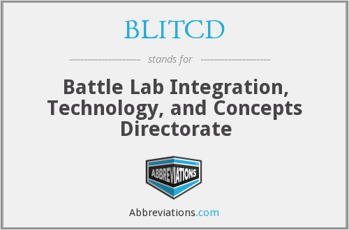 What does BLITCD stand for?