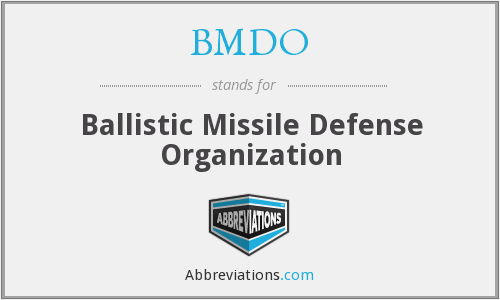 What does BMDO stand for?