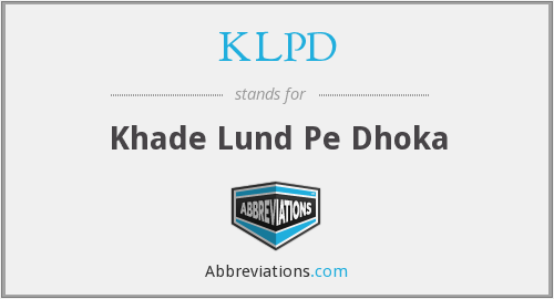 What does KLPD stand for?