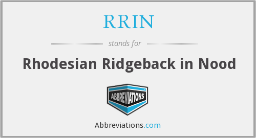 What does RRIN stand for?