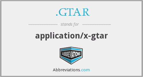 What does .GTAR stand for?