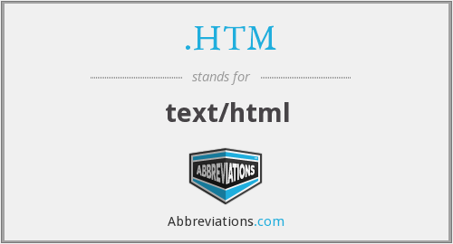 What does .HTM stand for?